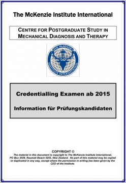 Credentialling Examen Information
